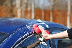 Person Washing Their Car