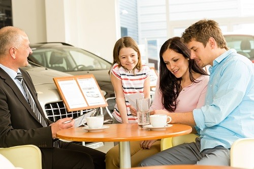 Family Buying Car