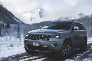 SUV in the mountains